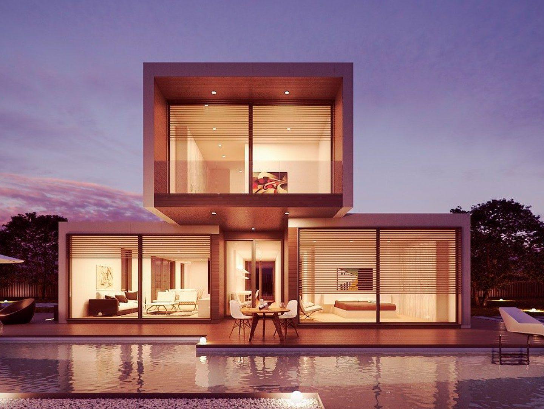 casa moderna construida en steel framing