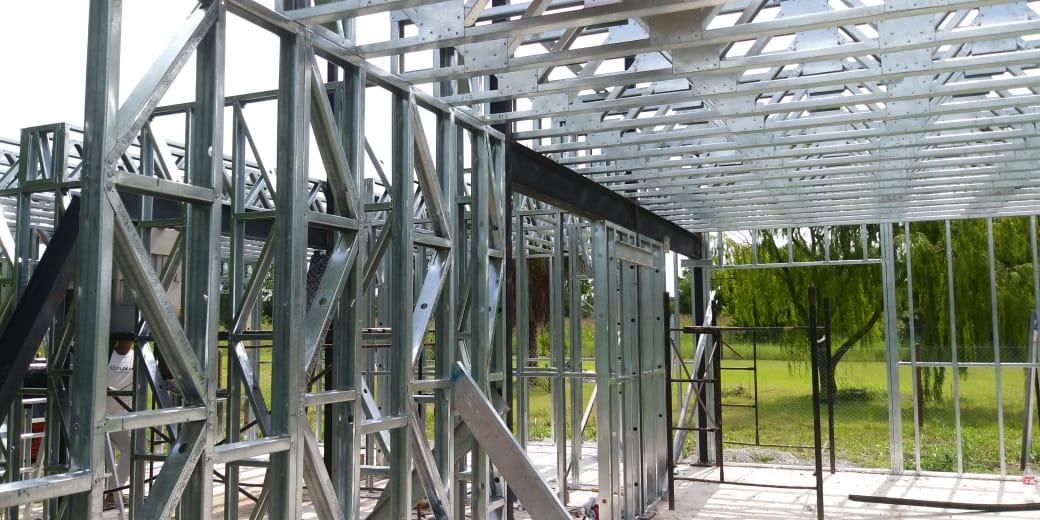 contruccion de casa de grupo jean steel frame