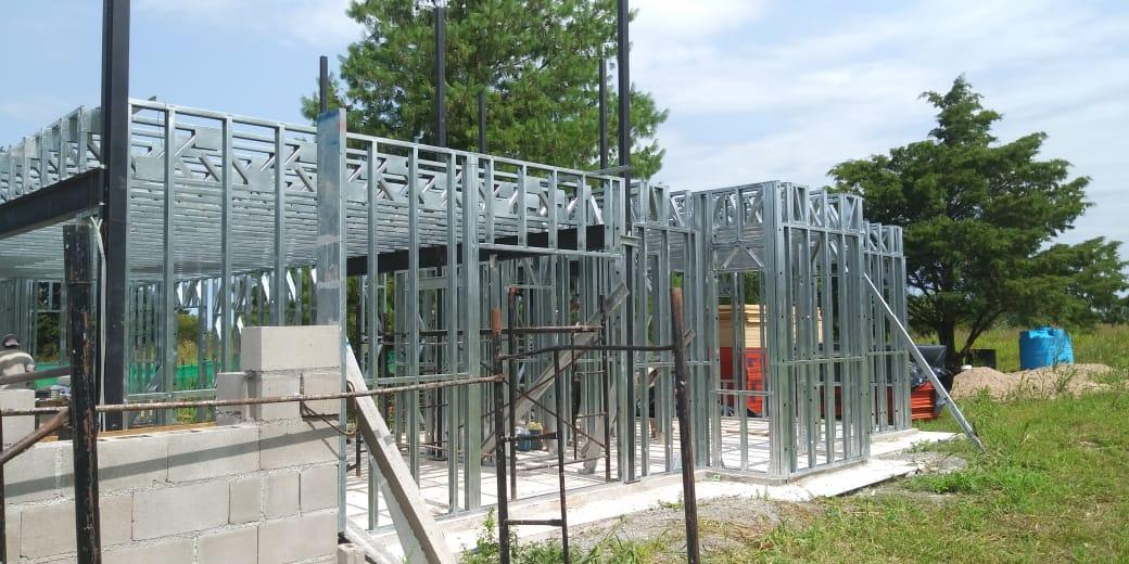 estructura de casa con steel frame