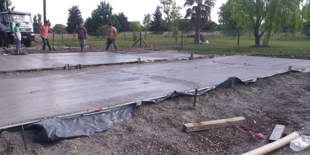 cimientos de una casa en proceso